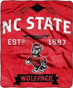 Northwest NC State Label Raschel Throw