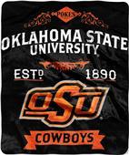Northwest Oklahoma State Label Raschel Throw