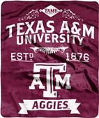 Northwest Texas A&M Label Raschel Throw