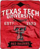 Northwest Texas Tech Label Raschel Throw