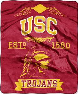 Northwest USC Label Raschel Throw