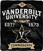 Northwest Vanderbilt Label Raschel Throw