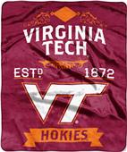 Northwest Virginia Tech Label Raschel Throw