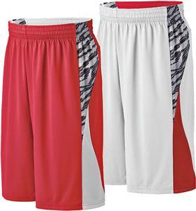 Printed Campus Reversible Basketball Shorts