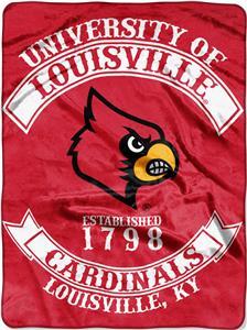 Northwest Louisville Rebel Raschel Throw