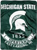 Northwest Michigan State Rebel Raschel Throw