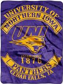Northwest Northern Iowa Rebel Raschel Throw