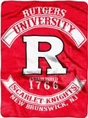 Northwest Rutgers Rebel Raschel Throw