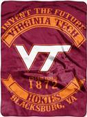 Northwest Virginia Tech Rebel Raschel Throw