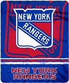 Northwest NHL NY Rangers Fade Away Fleece Throw