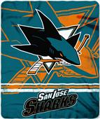 Northwest NHL Sharks Fade Away Fleece Throw