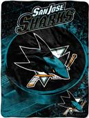 Northwest NHL San Jose Sharks Micro Raschel Throw