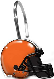 Northwest NFL Cleveland Brown Shower Curtain Rings