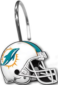 Northwest NFL Miami Dolphins Shower Curtain Rings
