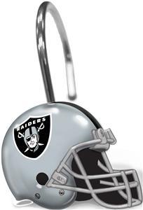 Northwest NFL Oakland Raiders Shower Curtain Rings