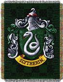Northwest Slytherin Shield Woven Tapestry Throw