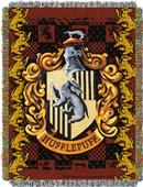 Northwest Hufflepuff Crest Woven Tapestry Throw