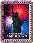 Northwest July 4th Woven Tapestry Throw