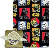 Northwest Yoda 3D Pillow & Fleece Throw Set