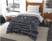 Northwest NFL Oakland Raider Anthem Twin Comforter