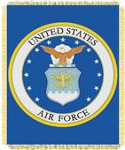 Northwest US Air Force Woven Jacquard Throw