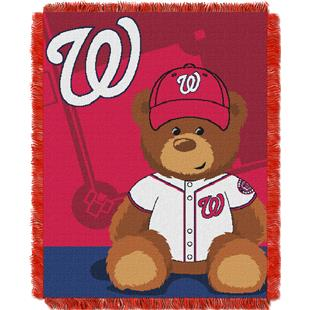 Northwest MLB Nationals Field Bear Baby Throw