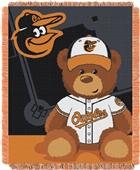 Northwest MLB Orioles Field Bear Baby Throw