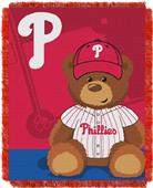 Northwest MLB Phillies Field Bear Baby Throw