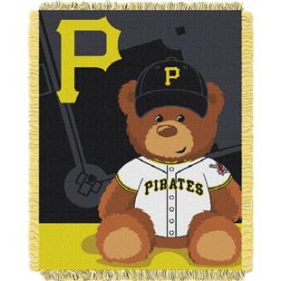 Northwest MLB Pirates Field Bear Baby Throw