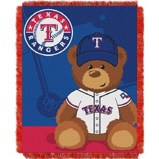 Northwest MLB Rangers Field Bear Baby Throw