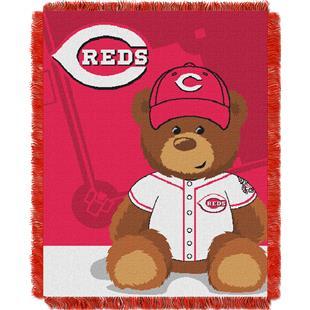 Northwest MLB Reds Field Bear Baby Throw