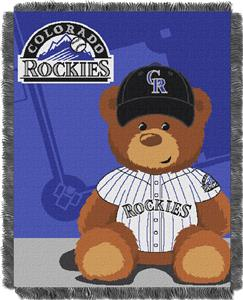 Northwest MLB Rockies Field Bear Baby Throw