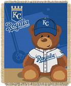 Northwest MLB Royals Field Bear Baby Throw