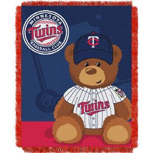Northwest MLB Twins Field Bear Baby Throw