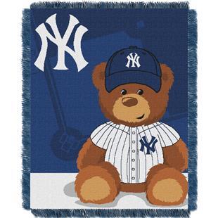 Northwest MLB Yankees Field Bear Baby Throw