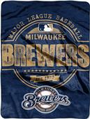Northwest MLB Brewers Structure Raschel Throw