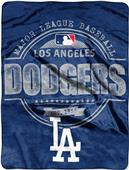 Northwest MLB Dodgers Structure Raschel Throw