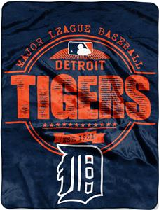Northwest MLB Tigers Structure Raschel Throw