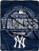 Northwest MLB Yankees Structure Raschel Throw