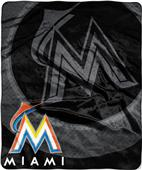 Northwest MLB Marlins Retro Raschel Throw