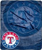 Northwest MLB Rangers Retro Raschel Throw