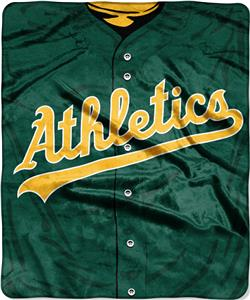 Northwest MLB Athletics Jersey Raschel Throw