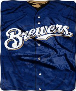 Northwest MLB Brewers Jersey Raschel Throw
