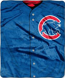 Northwest MLB Cubs Jersey Raschel Throw