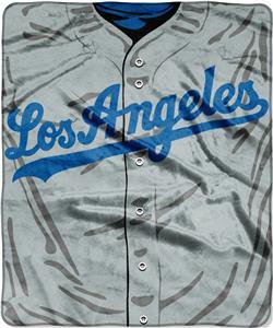 Northwest MLB Dodgers Jersey Raschel Throw