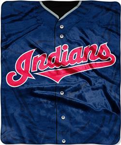 Northwest MLB Indians Jersey Raschel Throw