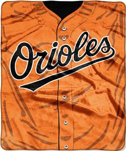 Northwest MLB Orioles Jersey Raschel Throw
