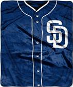 Northwest MLB Padres Jersey Raschel Throw