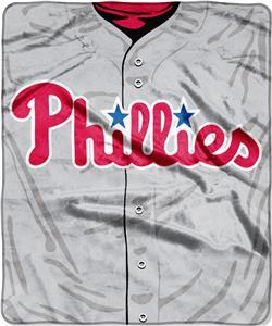 Northwest MLB Phillies Jersey Raschel Throw