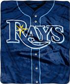 Northwest MLB Rays Jersey Raschel Throw